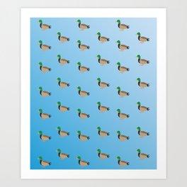 Baesic Duckies Art Print