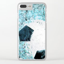 Soccer art Clear iPhone Case