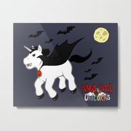 Horror Movie Unicorns: Dracula Metal Print