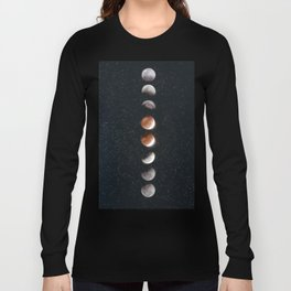 Phases of the Moon II Long Sleeve T-shirt