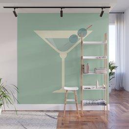 Shaken not Stirred Martini Seamless Pattern Wall Mural