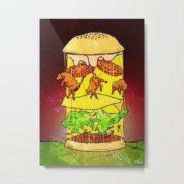 UFO Burger Metal Print