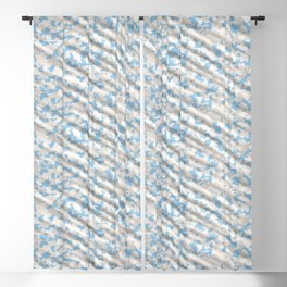 Sky Blue Army Camouflage Blackout Curtain