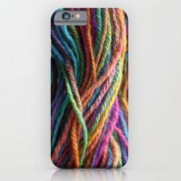 Rainbow Multi-color Handspun Yarn iPhone Case