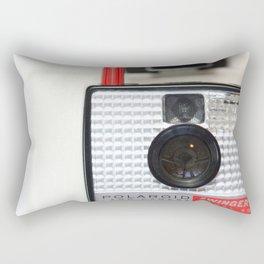 Swing It Vintage Polaroid Camera Rectangular Pillow