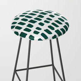 Green Abstract Paint Splotches Bar Stool