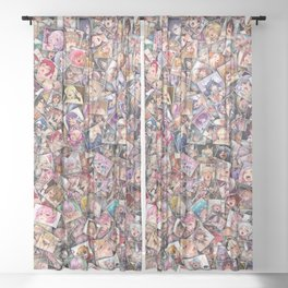 Ahegao color Sheer Curtain