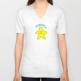 Skeptical star Unisex V-Neck