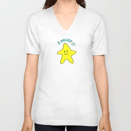 Skeptical star Unisex V-Neck