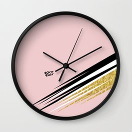 Abstract Blush I #kirovair #design #minimal #society6 #buyart Wall Clock