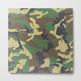 Camouflage Wood Metal Print