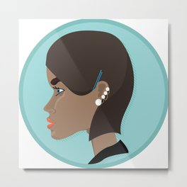 A girl's profile Metal Print