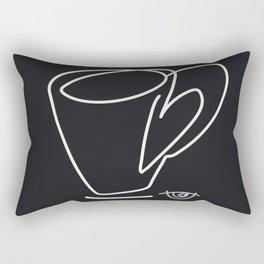 Cuppa Candor [Noir] Rectangular Pillow