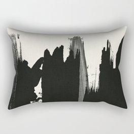 Black Paint Layers Rectangular Pillow
