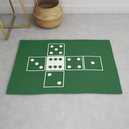 Green Unrolled D6 Rug