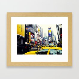 TAXI SQUARED. Framed Art Print