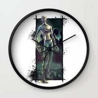 the walking dead Wall Clocks featuring Walking Dead by kcspaghetti