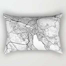 Zurich Map White Rectangular Pillow