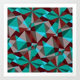 Triangle cubes Art Print