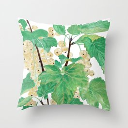 Branch of white currants Throw Pillow