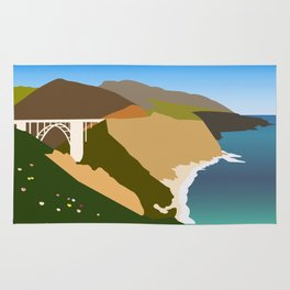 Big Sur Illustration Rug