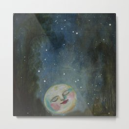 Always Kiss the Moon Goodnight  Metal Print