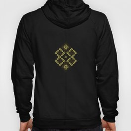 Fiery ancient ornament. Old Nordic embroidery in a psychedelic modern style Hoody