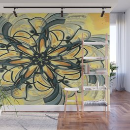 Swirly Flower Abstract 06 Wall Mural