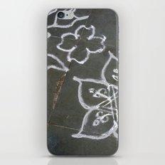 Kolam - white on gray iPhone & iPod Skin