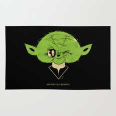 StarWars May the Force be with you (green vers.) Rug