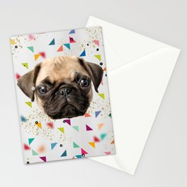 Fancy Puggy Trash Stationery Cards