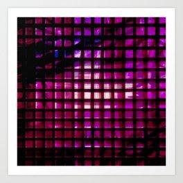 metallic grid Art Print