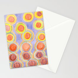 Growing Chains of Circles Stationery Cards