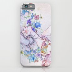 The lady and the flowers. iPhone 6s Slim Case