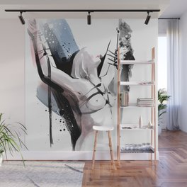 The beauty of tight binding, Naked body tied up to a pole, Nude art, Fine-art shibari rope bondage Wall Mural