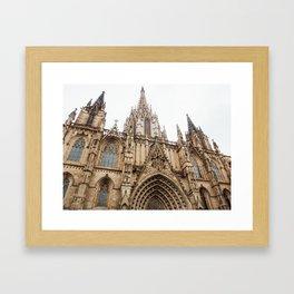 Catedral de Barcelona Framed Art Print