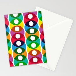 Geometric Pattern #64 (colorful bubbles) Stationery Cards