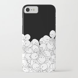Cherry Blossom Boarder iPhone Case