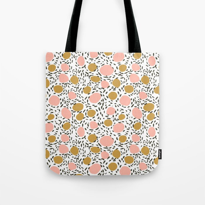Pebbles cute pattern gender neutral dorm college abstract design minimal modern earth nature Tote Bag