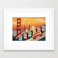 san francisco Framed Art Prints featuring San Francisco by Sam Brewster