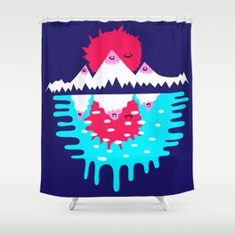 Happy Mountains Shower Curtain