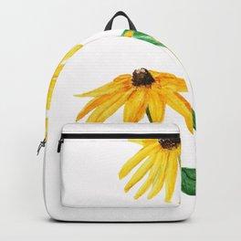yellow sun choke flower Backpack