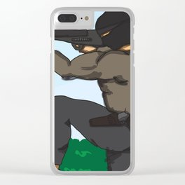 Sniper Paint Clear iPhone Case