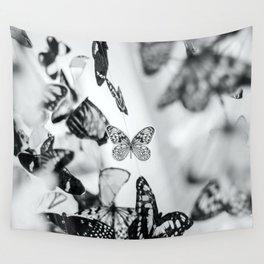 B&W Butterfly Wall Tapestry