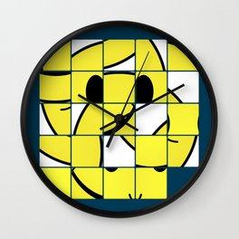 Acid Smiley Shuffle Puzzle Wall Clock