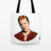 queens of the stone age Tote Bags featuring Josh Homme, Queens of the Stone Age, Vecto by Morgane Dagorne