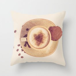 Vintage Coffee Love Photography Throw Pillow