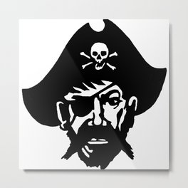 Captain Kidd II (The Rude Pirate) Metal Print