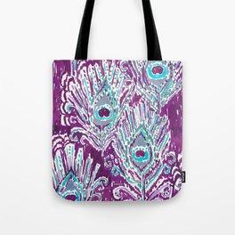PEACOCKY - PLUM Tote Bag
