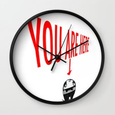 You Are Here Wall Clock